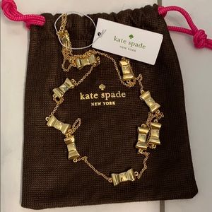 Kate Spade Take A Bow Scatter Gold Necklace